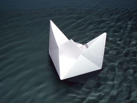 smoothness: Paper ship on the aqueous smoothness