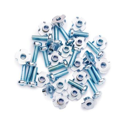 Heap of bolts close up