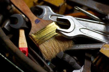 herramientas de mec�nica: grupo de mentir al azar herramientas mec�nicas