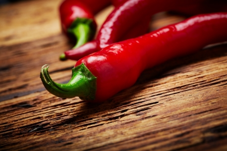 some chili peppers on a table