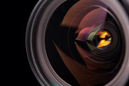 Camera lens closeup, close-up