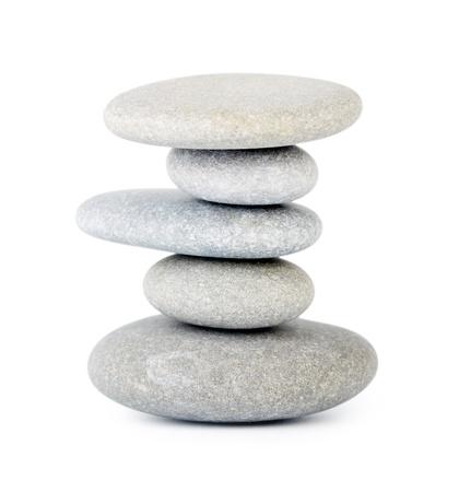 stone spa: Stones isolated on white