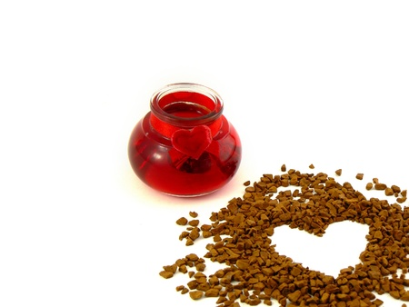 percolate: Coffee and heart
