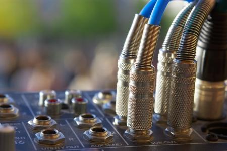 Audio jacks and sound mixer