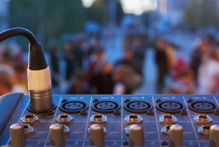Sound mixer and connector Stock Photo - 17260344