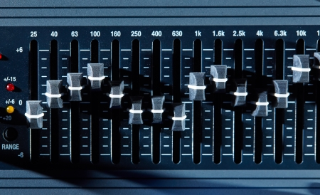 Control panel of a graphic equalizer photo