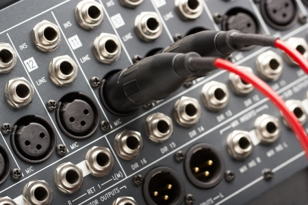 surround: Two connectors is connected to audio mixer