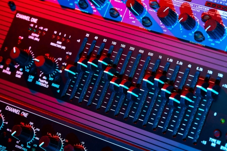 tecnology: Audio equalizer in bright light