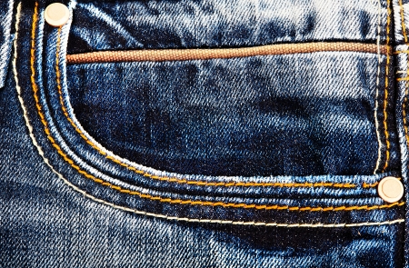 Back Pocket of Blue Jeans