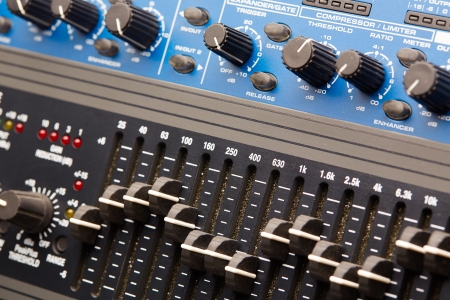 Audio rack, audio equipment control panel photo