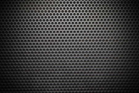 metal grate: Black speaker lattice background, close-up