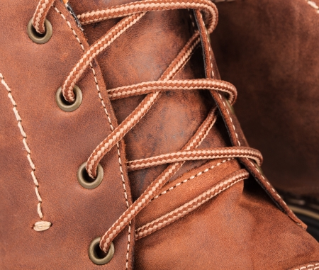 Boot detail close-up