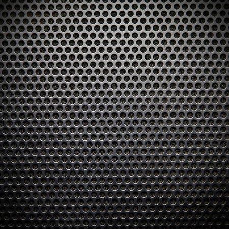 speaker grille: Black speaker lattice background, close-up