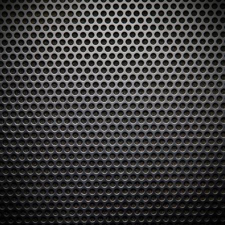 Black speaker lattice background, close-up