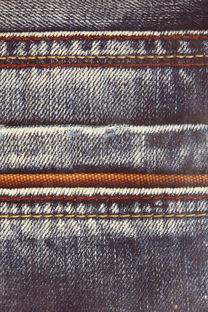 seam: Blue jeans background with seam