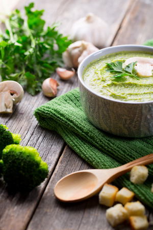 champignons: Cream Soup with Broccoli and Champignons