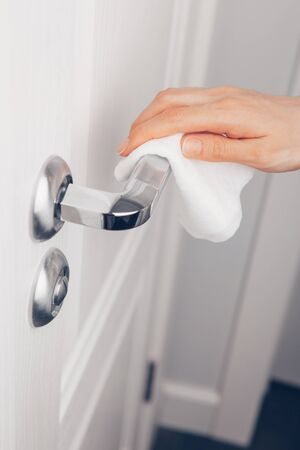 Hand Cleaning Door Handle With Antiseptic