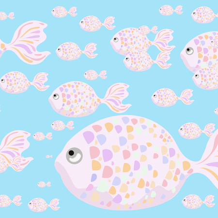 fishes: Pastel fishes