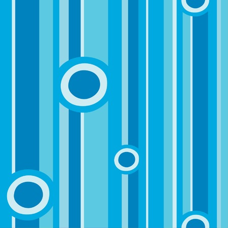 vintage children: Blue circles and stripes pattern vector illustration file