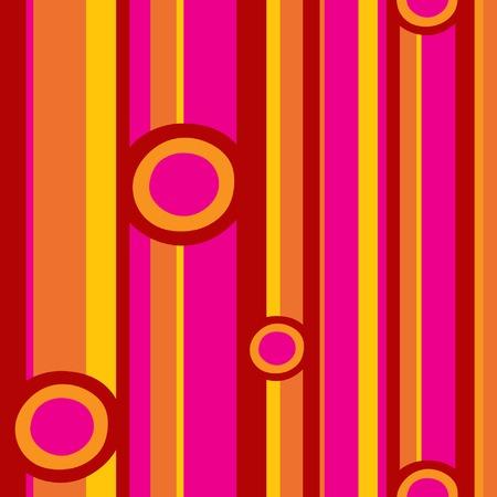 pink cell: Pink c�rculos rojos y rayas patr�n de ilustraci�n vectorial archivo