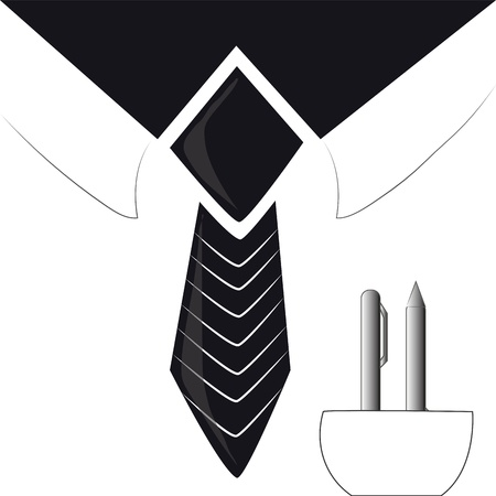drawed: a simple concept of businessman drawed in black vectors