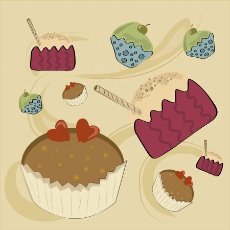 buttercream: tre bign� diversi e deliziosi in uno sfondo giallo