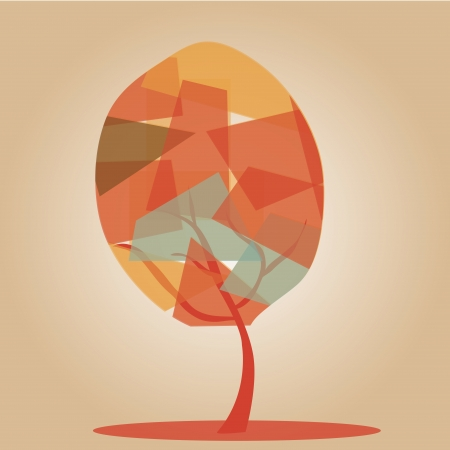 similitude: a beautiful colorful tree composed by irregular forms