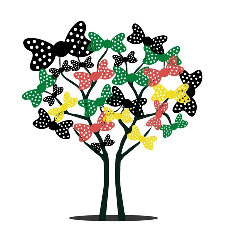 a beautiful tree composed by ties of different colors and size Stock Vector - 21566338