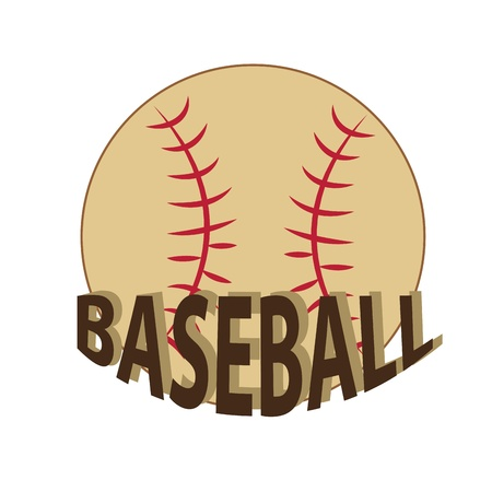 a baseball ball with brown text in a white background Stock Vector - 21567111