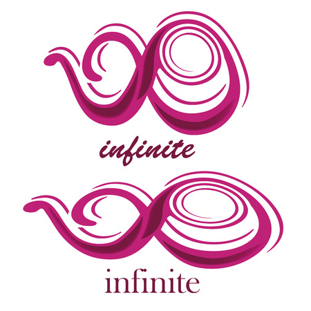 mobius symbol: a pink purple infinity symbol with text in a white background