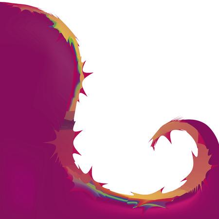 irregular shapes: una onda irregular con formas irregulares de color naranja en un fondo blanco Vectores