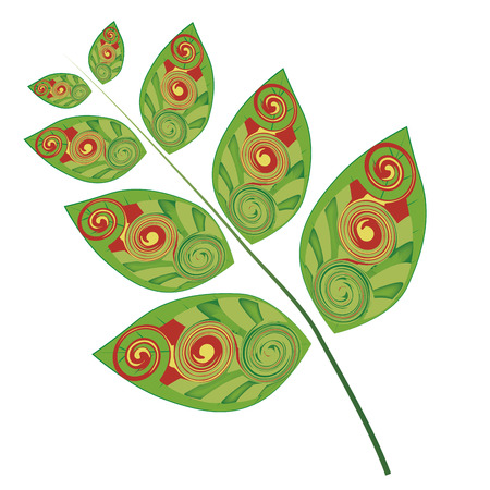 a group of beautiful leafs with some patterns inside them