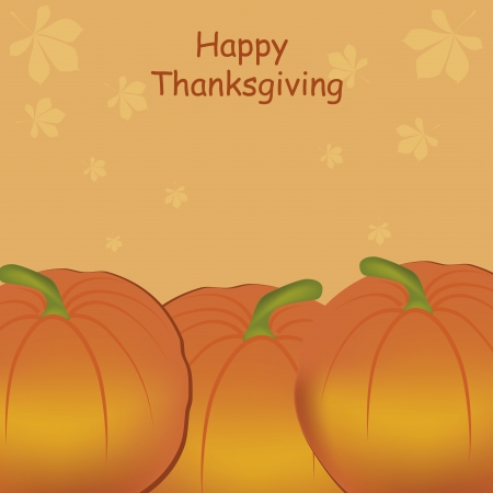 three orange pumpkins in a textured background with text Vector