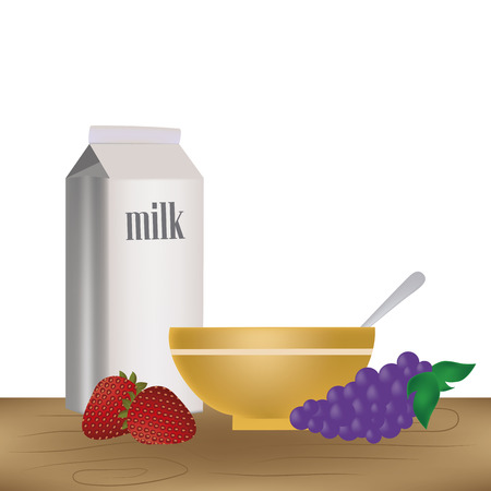 nutritive: a nutritive breakfast with a wheat cereal with fruits