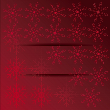 emphasized: a lot of red snowflakes in a pattern in a red gradient background Illustration