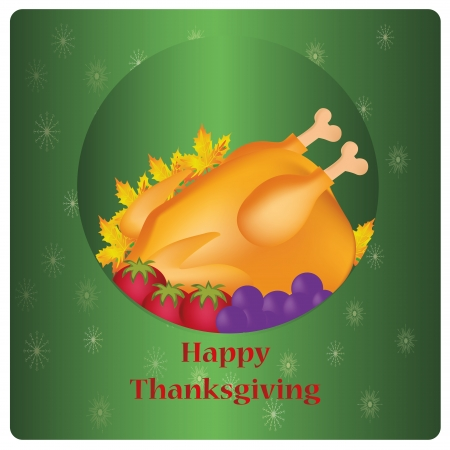 a lot of food with leaves for thanksgiving day Vector