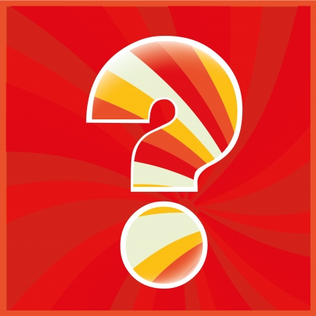 difficult decision: a colored question mark in a spiral colored background Illustration