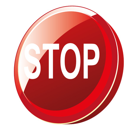 deny: a red signal with a stop warning in it Illustration