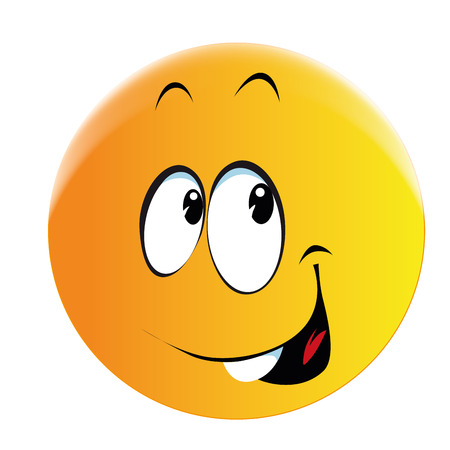 giggle: a yellow round face with a smile