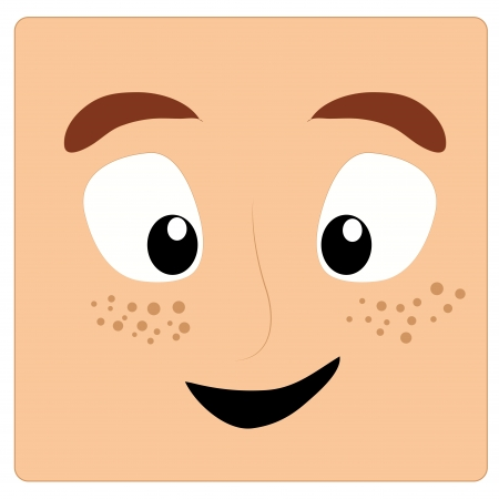 freckles: a happy face with some freckles in it Illustration