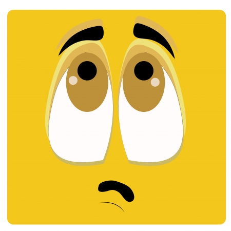 flange: a yellow face wondering with big eyes