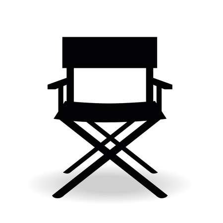 a black silhouette of a cinemas director chair