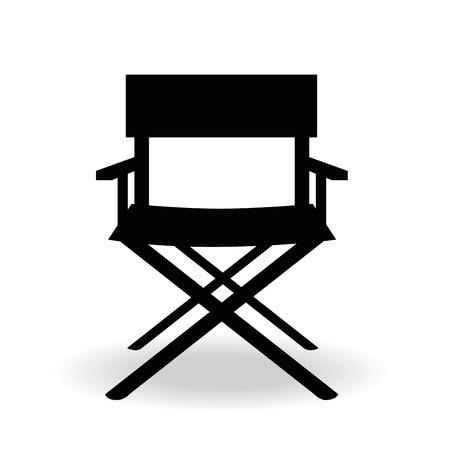 czarna sylwetka reżysera kina fotelu