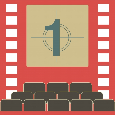 theather: a theather with a number in the screen