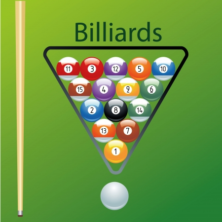 different colored balls for a pool game Vector