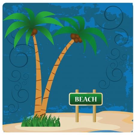 dwie palmy z kokosów na tym latem