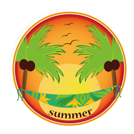 a colored round icon for this summer Stock Vector - 24992605