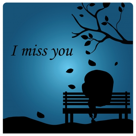an I miss you message in a blue background