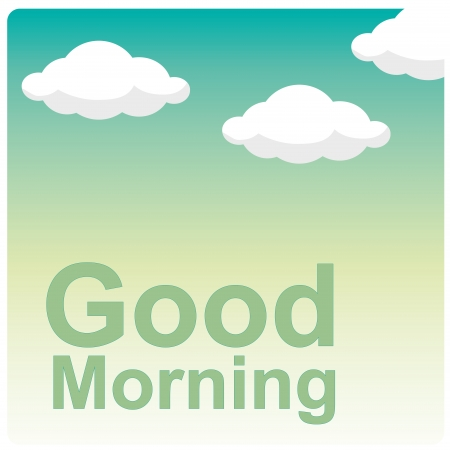 a good morning message in the sky Vector