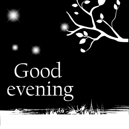 a good evening message in the night Vector